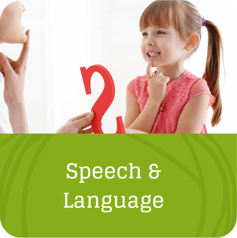 girl receiving speech therapy