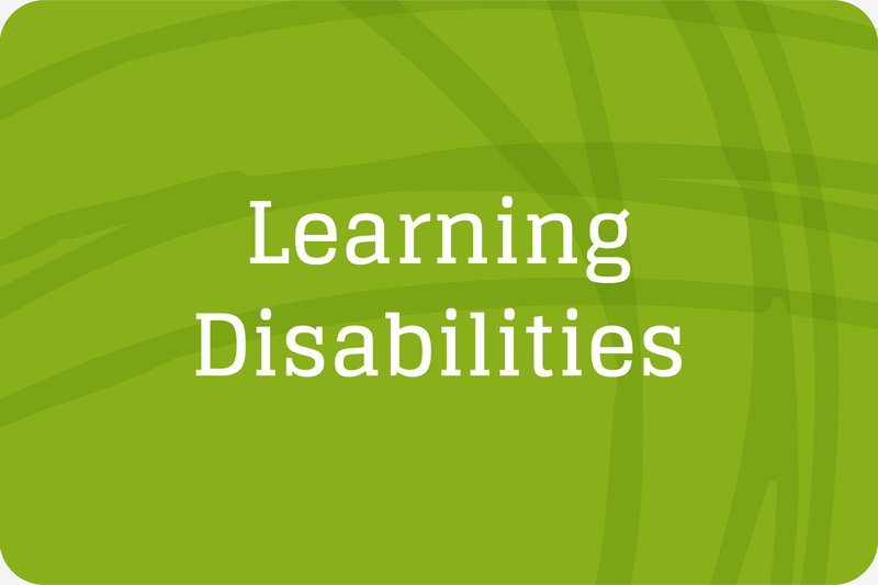 green button for learning disabilities
